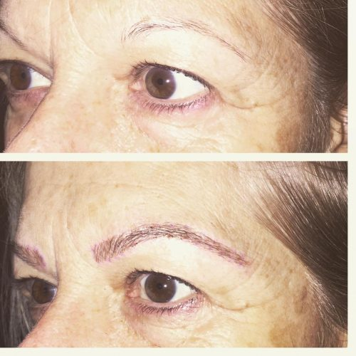 Before & after microblading by Nicole
