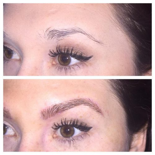 Our beautiful microblading from By Nicole