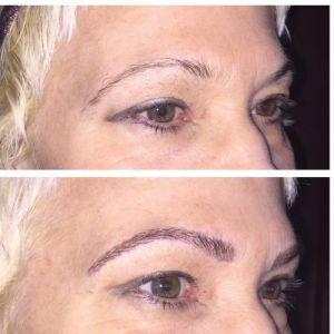 Our latest microblading restoration by Nicole