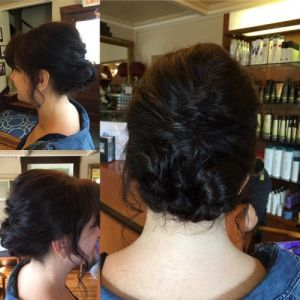Bridal attendant updo by Jessica