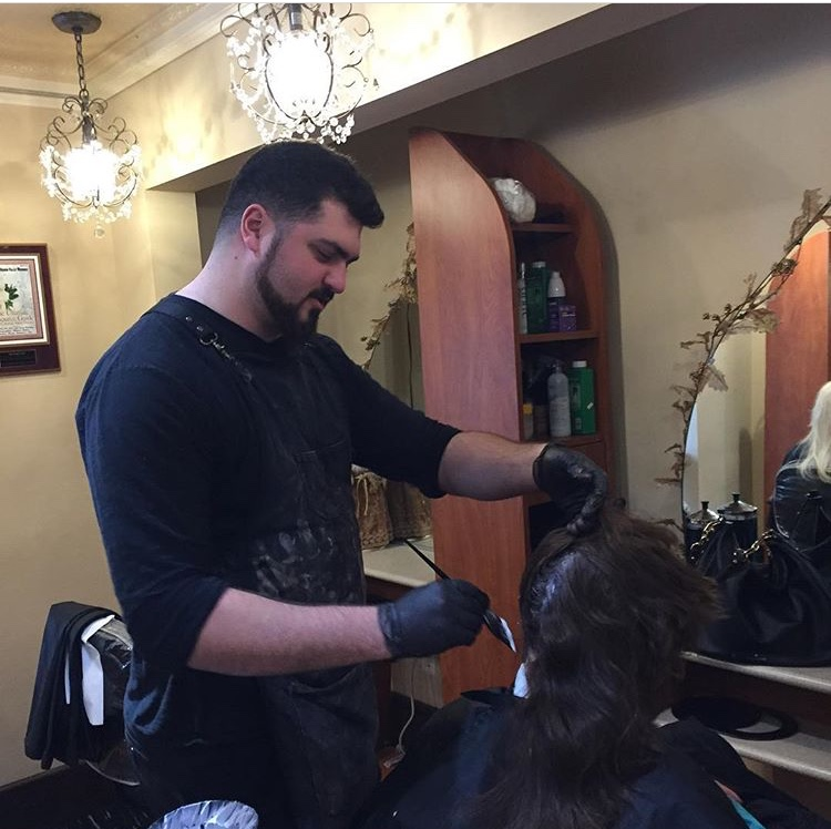 Anthony Minuta coloring hair